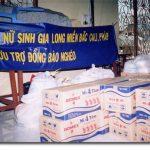 Tặng phẩm sẵn sàng để phân phối đến các cô nhi viện và trại cùi